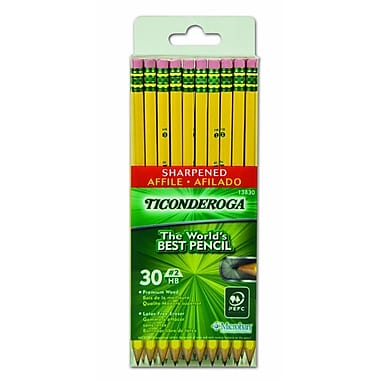 Ticonderoga® Pencils, #2 HB, Medium Lead, 30/Pack