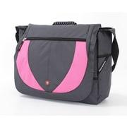 Wenger Swiss Gear Messenger Bag; Gray Tin/Relaxed Mauve