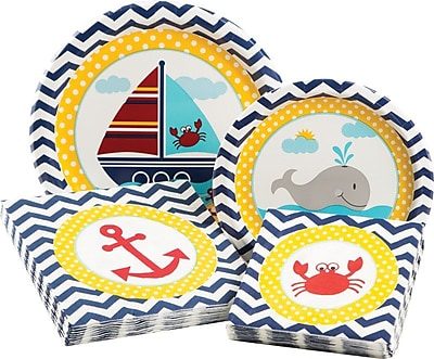 Creative Converting Ahoy Matey Party Table Ware Kit (Set of 68) WYF078278052399