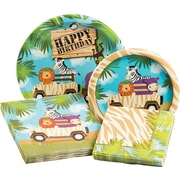 Creative Converting Safari Adventure Party Table Ware Kit