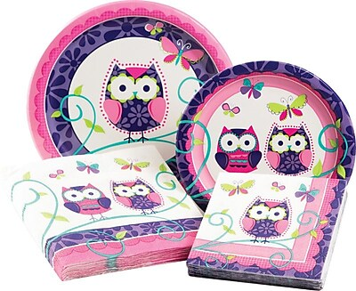 Creative Converting Owl Pal Birthday Party Table Ware Kit (Set of 64) WYF078278052409