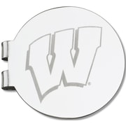 LogoArt  NCAA Laser Etched Silver Plated Money Clip; University of Wisconsin