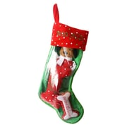 DEI Santa's Lucky Dog ''Snowflake Dog'' Holiday Pet Stocking and Toy Set