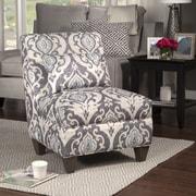 HomePop Slate Large Slipper Chair