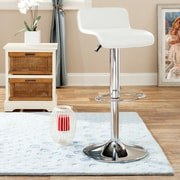 Safavieh Peter Adjustable Height Bar Stool with Cushion; White