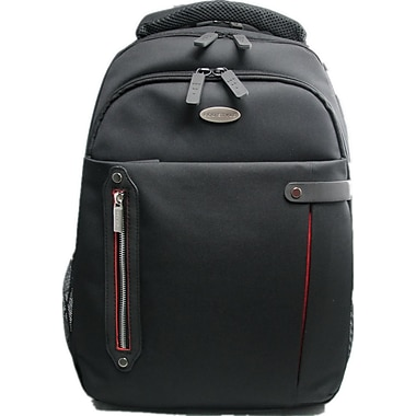 Eco Style Tech Pro Black/Red Ballistic Polyester Checkpoint Friendly Backpack for 16.4
