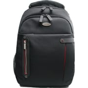 "Eco Style Tech Pro Black/Red Ballistic Polyester Checkpoint Friendly Backpack for 16.4"" Laptop (ETPR-BP16-CF)"