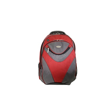 Eco Style Sports Vortex Red/Gray Nylon Checkpoint Friendly Backpack for 16.1