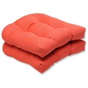 Pillow Perfect Canvas Outdoor Sunbrella Dining Chair Cushion (Set of 2); Melon