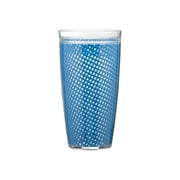 Kraftware Fishnet Double Wall Insulated Tumbler (Set of 4); Process Blue
