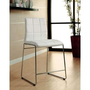 Hokku Designs Narbo 24.5'' Bar Stool with Cushion (Set of 2); White