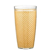 Kraftware Fishnet Double Wall Insulated Tumbler (Set of 4); Camel