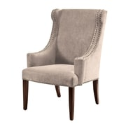 Madison Park Marcel High Back Wing Arm Chair; Taupe
