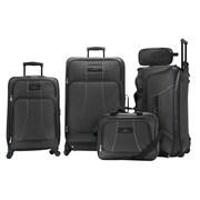 Skyway Seville 5 Piece Luggage Set; Black