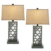 EC World Imports Urban Designs 28'' H Table Lamp with Rectangular Shade (Set of 2)