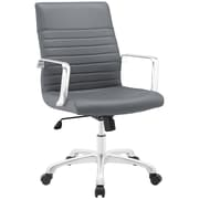 Modway Finesse Mid-Back Task Chair; Gray