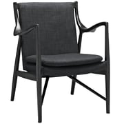 Modway Makeshift Upholstered Lounge Chair; Black/Gray