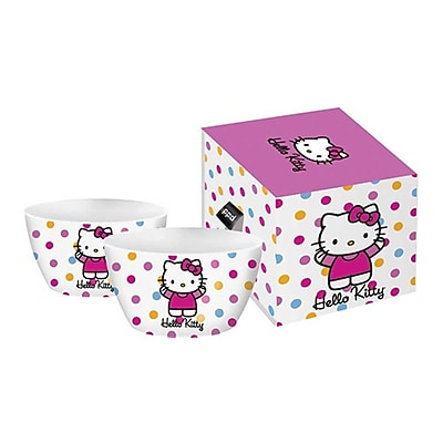 Paperproducts Design Hello Kitty Polka Dot Bowl (Set of 2)