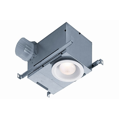 Broan Recessed 70 CFM Bathroom Fan with Light; LED