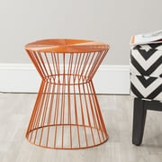 Safavieh Fox Adele Iron Wire Stool; Orange