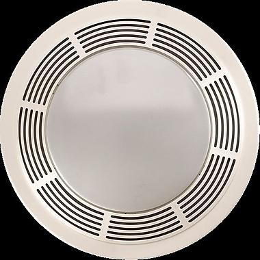 Broan Round 100 CFM Exhaust Bathroom Fan w/ Light and Night Light ...