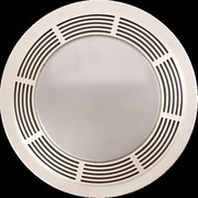 Broan Round 100 CFM Exhaust Bathroom Fan w/ Light and Night Light