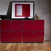 System4 SYSTEM4 Elite 4-Drawer Lateral File; Wine Red