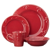 Signature Housewares Sorrento 4 Piece Place Setting; Ruby Red
