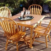 Spiderlegs Puzzle Folding Bar Table; Golden Oaks