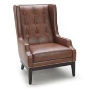 Sunpan Modern 5West Biblioteca Leather Arm Chair