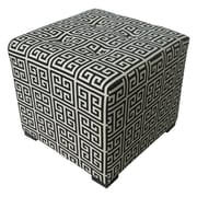 Sole Designs Merton Ottoman; Towers Black and White