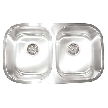 Artisan Sinks Premium Series 30'' x 17.75'' Double Bowl Undermount Kitchen Sink