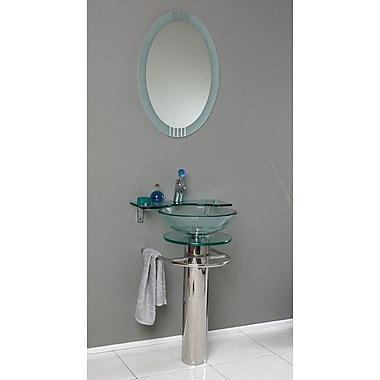 Fresca Vetro 24'' Single Ovale Modern Bathroom Vanity Set w/ Mirror