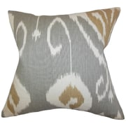 The Pillow Collection Cleon Ikat Throw Pillow; Gray
