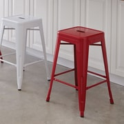 OSP Designs Patterson 24'' Bar Stool (Set of 2); Red
