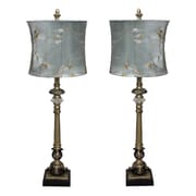 EC World Imports Urban 29'' H Table Lamp with Oval Shade (Set of 2)