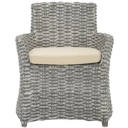 Safavieh Renee Arm Chair; Grey White Wash / White