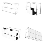 System4 SYSTEM4 Elite 4-Drawer Lateral File; Silver
