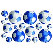 Fun To See Soccer Balls Nursery and Bedroom Wall Decal; Blue