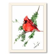 Americanflat Cardinal 3 by Suren Nersisyan Framed Painting Print in Red; Black
