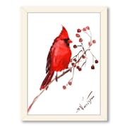 Americanflat Cardinal 5 by Suren Nersisyan Framed Painting Print in Red; Black