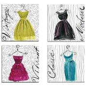 Portfolio Canvas Cocktail Hour Classic by Jennifer Sosik 4 Piece Graphic Art on Wrapped Canvas Set
