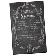 Portfolio Canvas Recipe for Happiness Chalkboard by Corinne Haig Painting Print on Wrapped Canvas