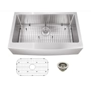 Soleil 33'' x 20'' Stainless Steel 16 Gauge Apron Front Single Bowl Kitchen Sink