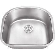 Soleil 23.25'' x 20.88'' Stainless Steel 18 Gauge Single Bowl Kitchen Sink