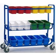 Copernicus Library on Wheels Cart with 18 Small Tubs
