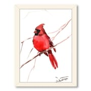 Americanflat Cardinal by Suren Nersisyan Framed Painting Print in Red; Black