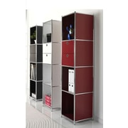 System4 System4 61'' Bookcase; Silk gray