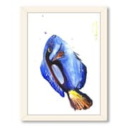 Americanflat Coral Fish by Suren Nersisyan Framed Painting Print in Blue; White