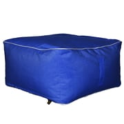 Hip Chik Chairs Outdoor Square Ottoman; Pacific Blue